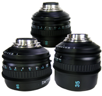 Sony Prime PL F2.0 Lens KIt, 35mm, 50mm, 85mm