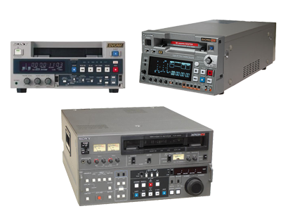 DVCPro BetaCamSP and DVCam Video Tape Recorders